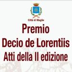 Premio Decio De Lorentiis, presentazione del volume